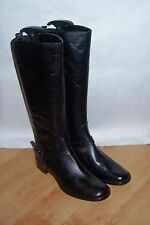 NEW Clarks womens black leather knee length riding boots - various sizes