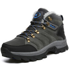 Men's Big Size Winter Trail Hiking Boots Fur Lined Antiskid Sports Outdoor Shoes
