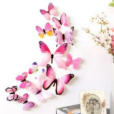 12x Butterfly 3D Wall Stickers Decal Home Decorations PVC Living Room Wallpaper