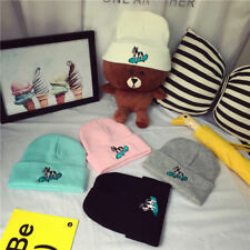Men Women Knit Ski Cap Hip-Hop Winter Warm Unisex Wool Hat Skateboarding dog  ra
