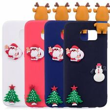 Christmas Phone Case For Sumsung S6 S7 Edge S8 Plus Soft Silicone Cover 3D Skin