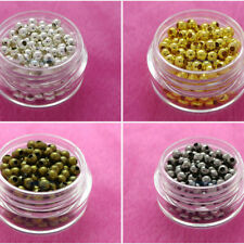 Metal Spacer Beads Silver Gold Bronze free shipping 3.mm 4mm 5mm 6mm