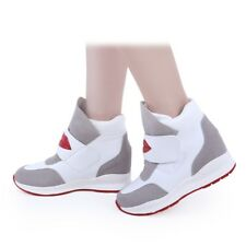High Platform Invisible Heighten Increasing Women's Sneakers Canvas Sports Shoes