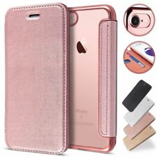 Soft Clear Rubber Shockproof Flip Wallet Leather Case Cover For iPhone Samsung E