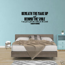 Wall Decal Quote Marilyn Monroe Red Lips Beneath The Makeup Decor Quote JP351