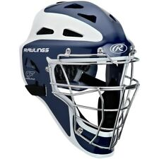 Rawlings Pro Preferred CoolFlo Youth baseball catchers gear helmet mask Navy