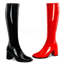 Funtasma Costume Shoe Women's  Dual Colored Block Heel Knee High Boots