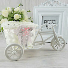 Rattan Tricycle Basket Wedding Party Office Bedroom Vase Storage Decoration