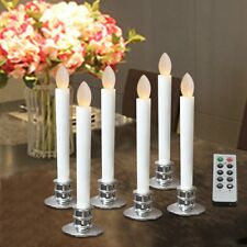 Electric Candles for Window Flicker Flameless LED Lights Battery Operated Silver