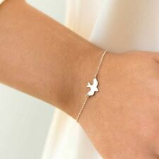 Tiny Peace Dove Flying Bird Bracelet