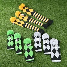 3Pcs/Set Hand Knitted Golf Club Headcover for Taylormade Driver 3 Wood & 5 Wood