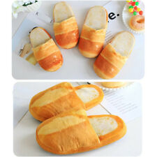 1 Pair Bread bedroom shoes Simulation bread slippers Bread floor shoes
