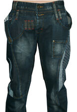 Mens Stone Wash Designer Jeans blue. funky High Waist Denim 30 32 34 36 38 black
