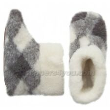MEN'S WOMEN'S Ladies House Slippers Boots Sheep Wool US size 5 6 7 8 9 10 11 12