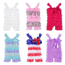 Newborn Kids Baby Girls Lace Posh Petti Ruffle Rompers TUTU 0-3Y Toddler Clothes