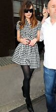 Topshop Gingham Checked Plaid Skater Shirt Dress - UK 6 8 10 12 14 16 18