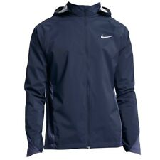 NIKE Shield Water Wind Resistant Blue F/Z Hoodie Running Jacket NEW Mens Sz M L