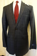 NWT Brooks Brothers 1818 Milano Blue Subdued Check Suit 42XL 44R  MSRP $1298