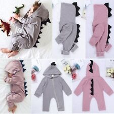 Baby Girls Boy Clothes Dinosaur Romper Hooded Bodysuit Toddler Jumpsuit Outfits