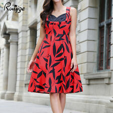 NEW Womens Rockabilly Vintage Floral Tunic Dress Party Evening Pinup Swing Dress