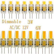AC DC 12V Replace Halogen 10x 50x G4 3W 6W COB Dimmable LED Bulbs Lights Lamp