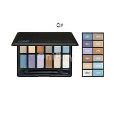 12 Colors Matte Shimmer Eyeshadow Makeup Palette Set with Cosmetic Applicator