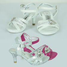 New Girls Glittering Pageant Formal High Heel Shoe Wedding Party AU Sz 6-9