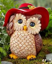 Garden Statue Owl Figurine Ceramic Dress-Up Animal Indoor Outdoor Lawn Decor New
