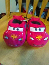 Disney Pixar Cars Lightning McQueen Toddler Unisex Red Slippers/Shoes- S,M,L,XL