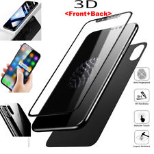 For iPhone X 3D Curved Full Coverage Front+Back Tempered Glass Screen Protector