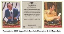 2011 Upper Deck Goodwin Champions (1-150) Set ** Pick Your Team **