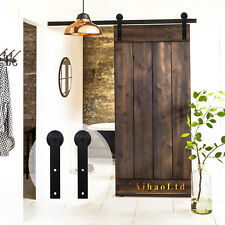 4-16FT Wood Sliding Barn Door Hardware Closet Track Kit Single/Double/Bypass
