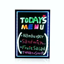 Flashing Illuminated Erasable Neon LED Message Menu Sign Writing Board