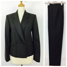 Joseph Janard Jacket Trouser Suit Size 12/8 Brown Wool Formal   (56F)