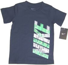 Nike Young Boy's Short Sleeve Cotton T-Shirt NWT Size  4  5  6 or 7  Navy w Nike