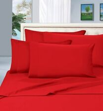 BRAND NEW US BEDDING COLLECTION ITEMS - 1000 TC 100%EGYPTIAN COTTON RED SOLID