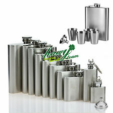 Stainless Steel Hip Flask Liquor Whiskey Vodka Alcohol Pocket Drink Bottle Cup