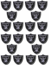 5 pcs Oakland Raiders Football Logo DIY Badge Embroidered Iron Sew On Patch Lot