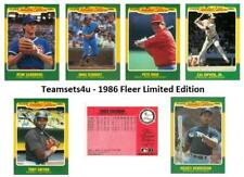 1986 Fleer Limited Edition Baseball Set ** Pick Your Team **