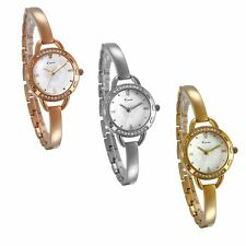 Ultra Thin Band Rhinstone Small Dial Analog Wrist Bracelet Watch Womens Jewelry