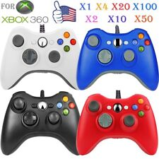 LOT 1-100pcs Wired Game Controller Joypad Gamepad for XBOX360 XBOX 360 Slim EO