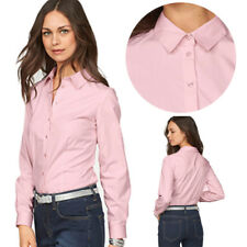 Womens Ladies Tops Blouses Formal Shirt Work Office Shirts New Long Sleeved