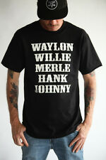 Waylon Jennings Willie Nelson Merle Haggard Hank Williams Johnny Cash T-Shirt
