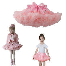 Toddle Girl Kid Chiffon Fluffy Pettiskirt Tutu Christmas Dance Party Skirt 0-7Y