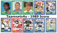 1989 Score Football Team Sets ** Pick Your Team Set **