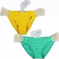 Jessica Simpson Womens swim suit bikini bottoms hipster crochet tab swimwear NWT