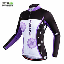 Women Long Sleeve Bike Jersey Spring Summer Breathable Top Shirt Cycling Bicycle
