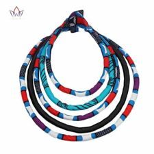 BRW 2017 Fabric Print Necklace African Tribal Ankara Handmade Jewelry Necklace M
