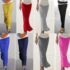 Package-hip Long Skirt Casual Straight Slim Elastic Waist Stylish Lady