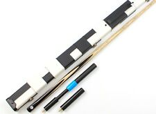 Classic Maple Ebony One 1 Piece Handmade Snooker Pool Cue Set and Case Extension